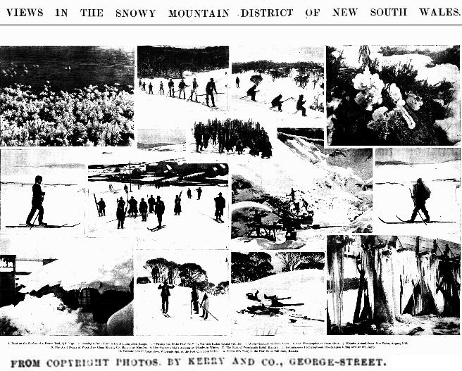 Views in the Snow Mountain District of NSW by Charles Kerry, Sydney Mail and New South Wales Advertiser (NSW : 1871 - 1912), Saturday 22 August 1896, page 394. The back of Weselman's Hotel is shown in image 10.